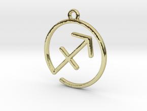 Sagittarius Zodiac Pendant in 18k Gold Plated Brass