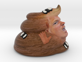 New Turd Trump Large in Full Color Sandstone