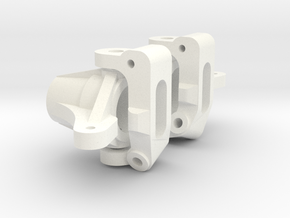 Ten4 Short Arm Front Knuckle And Carrier in White Processed Versatile Plastic