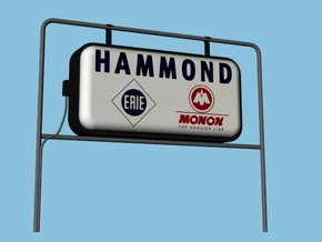 Monon Station Signs - HO, Four Pack in Frosted Ultra Detail