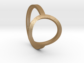 Simple Ring 111b7 in Matte Gold Steel