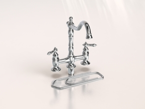Miniature Doll House Kitchen Faucet B, 1:12 in Smoothest Fine Detail Plastic