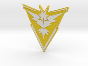 Pokemon Go - Team Instinct Badge 1 in Full Color Sandstone