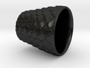Dragon Scaled shot glass Version 2 in Matte Black Porcelain