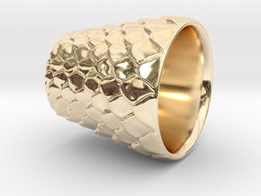 Dragon Scaled shot glass Version 2 in 14K Yellow Gold