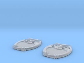 Owl Earrings in Smooth Fine Detail Plastic