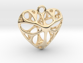 Heart Pendant  in 14k Gold Plated Brass