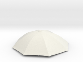 1/18 Realistic Umbrella Top for Auto Diorama in White Natural Versatile Plastic