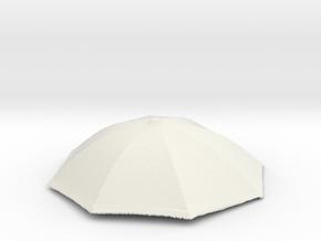 1/18 Realistic Umbrella Top for Auto Diorama in White Natural Versatile Plastic