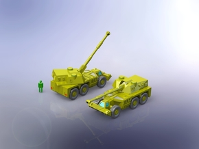 South African G6 Rhino 155mm SPG 1/200  in Smooth Fine Detail Plastic