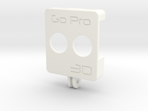 GoPro 3D rig front (1 of 2) in White Strong & Flexible Polished