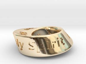 Trinity Mobius in 14k Gold Plated Brass