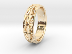 Cut Facets Ring Sz. 4.5 in 14K Yellow Gold