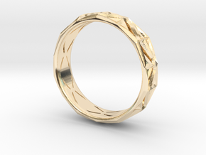 Cut Facets Ring Sz. 6.5 in 14K Yellow Gold
