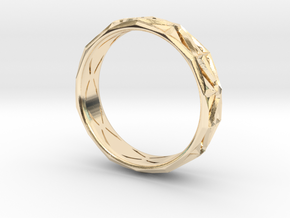 Cut Facets Ring Sz. 7.5 in 14K Yellow Gold