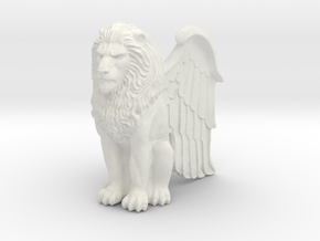 Lion Winged 42mm in White Strong & Flexible