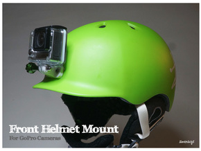 Simensays GoPro Helmet Mount in White Strong & Flexible Polished