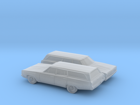 1/160 2X 1968-70 Plymouth Satellite Station Wagon in Smooth Fine Detail Plastic