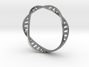 DNA Bracelet (Large) in Natural Silver
