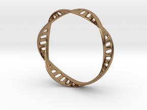 DNA Bracelet (Large) in Natural Brass