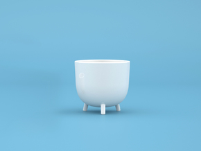 Perch Pot - Large in Gloss White Porcelain