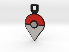 Pokemon GO - Logo Pendant/Necklace/Keychain in Full Color Sandstone