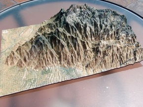 Santa Catalina Mountains Map in Coated Full Color Sandstone