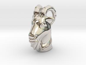 Goat(Pendant) in Rhodium Plated Brass