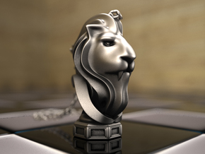 LionHeart(Pendant) in Polished Silver