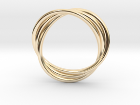 mobius three wire in 14K Yellow Gold