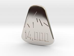 14er Pendant in Platinum