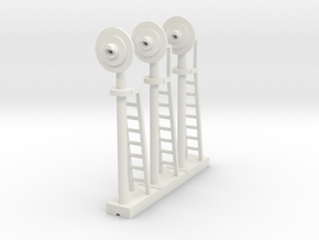Signal Searchlight (x03) - HO 87:1 Scale in White Strong & Flexible