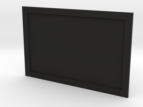 Television or Computer Monitor Screen 1/35th scale in Black Natural Versatile Plastic