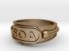 Sons of Anarchy ring in Polished Gold Steel