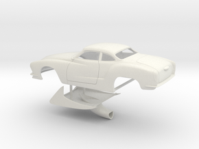 1/18 Legal Pro Mod Karmann Ghia in White Natural Versatile Plastic