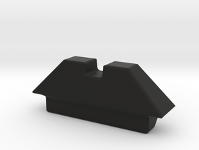 Replacement rear sight for Tokyo Marui G18c GBB in Black Natural Versatile Plastic