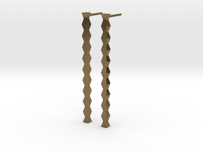Coloana Earrings in Natural Bronze: Large