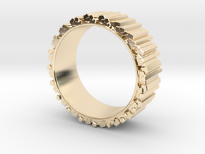 Crystal Ring - ring size ca 2 in 14K Yellow Gold