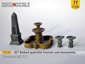 SET Quatrefoil fountain with monument (TT 1:120) in Smooth Fine Detail Plastic