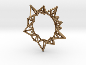 Star Rings 5 Points - Small - 3cm in Natural Brass