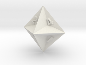 d4 Semiconvex Octohedron in White Natural Versatile Plastic