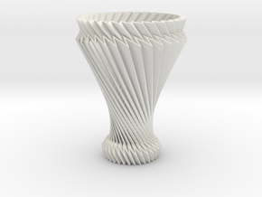 Hyperboloid Decorative Lamp V1 in White Natural Versatile Plastic