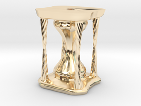 Hourglass2 in 14k Gold Plated Brass