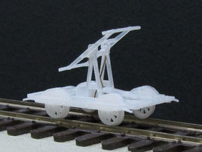 HOn3 - SPC Carter Bros Handcar in Smooth Fine Detail Plastic