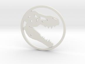 Tyrannosaurus Head bone necklace Pendant in White Natural Versatile Plastic