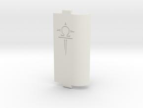 Sportello Con Logo Scavato 2 in White Strong & Flexible