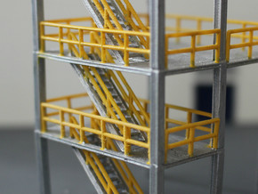 N Scale 3x Refinery Stairs (modular) in Frosted Ultra Detail