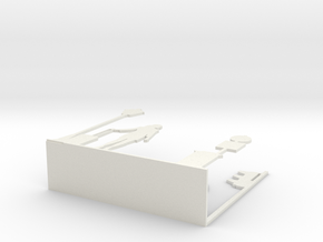 "Napkin Holder ""Urban love"" in White Natural Versatile Plastic"