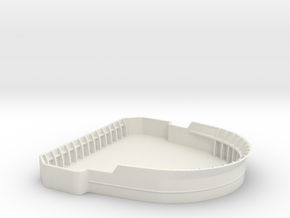 1/75 USN Bridge Tub  in White Natural Versatile Plastic