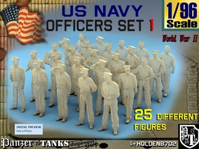 1-96 USN Officers Set1 in Smooth Fine Detail Plastic